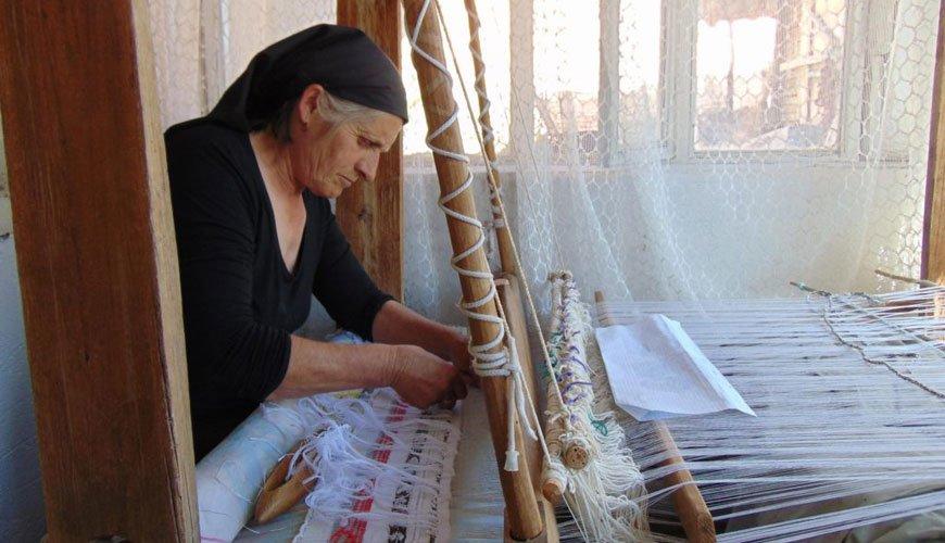 Ткање бошче на разбоју - село Пасјане